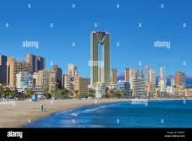 Spain Europe Benidorm Costa Blanca Architecture Beach