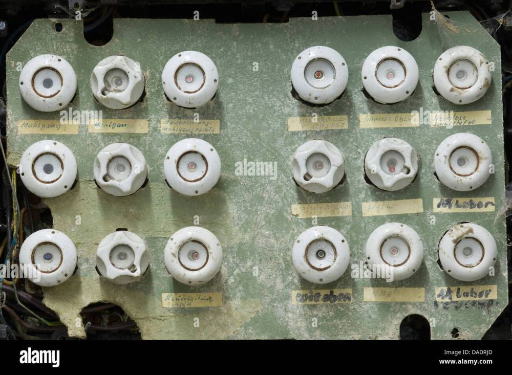 medium resolution of germany antique old dusty fuse box
