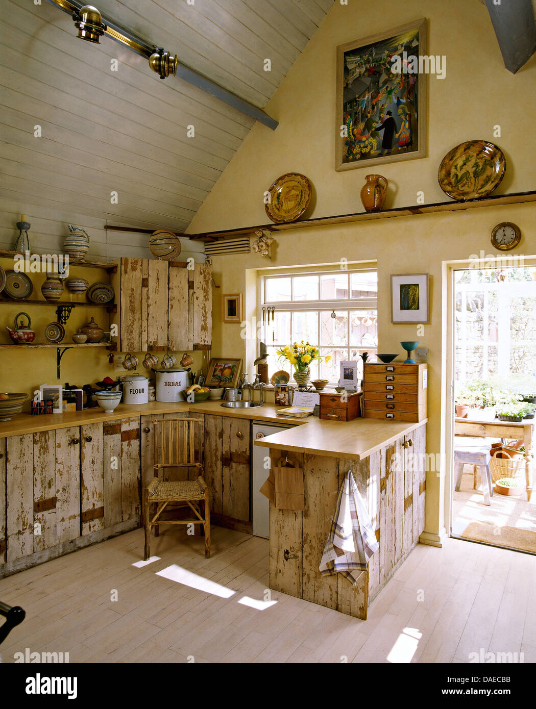 rustic country kitchen with