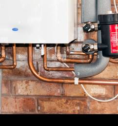 gas combi boiler made by worcester 30si heats water central heating radiators uk  [ 1300 x 955 Pixel ]
