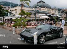 Ferrari In Front Of Cafe De Paris Place Du Casino Monte