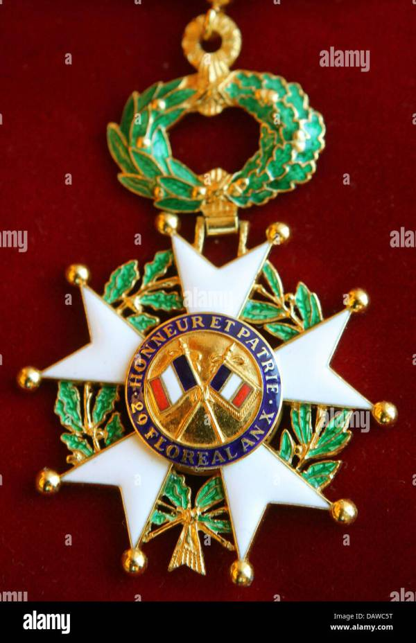 French Legion Of Honor Medal Stock & - Alamy
