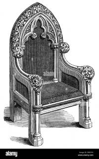 furnishings, chairs, gothic chair, by Williams and Lumsden