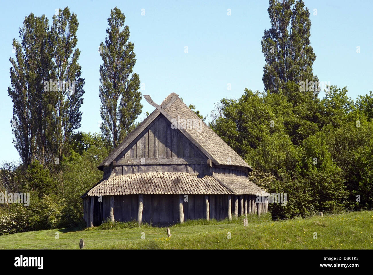 The Photo Depicts A Typical Viking Longhouse Inside The