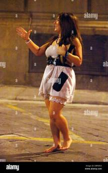 Deena Nicole Cortese Leaving Moyo Night Club And Walking