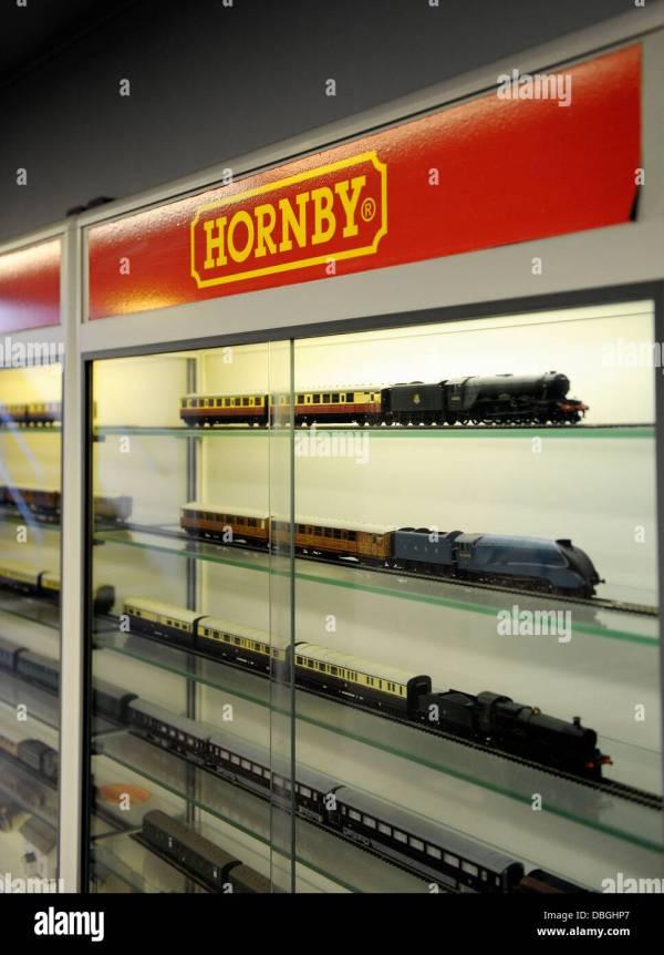 Hornby Model Trains In Display Case National Railway