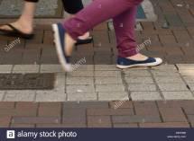 Close- Of Peoples Feet ' Walking