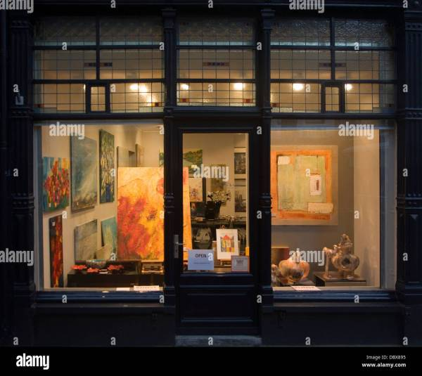 Brightly Lit Art Dordrecht Netherlands Stock