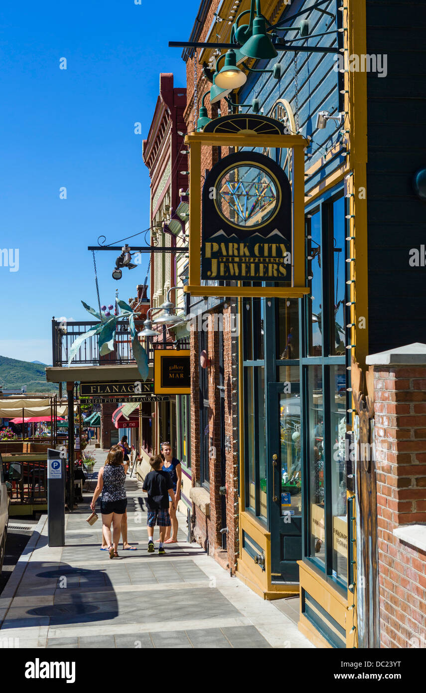 Park City Mall Stores : stores, Shops, Street, Downtown, City,, Utah,, Stock, Photo, Alamy