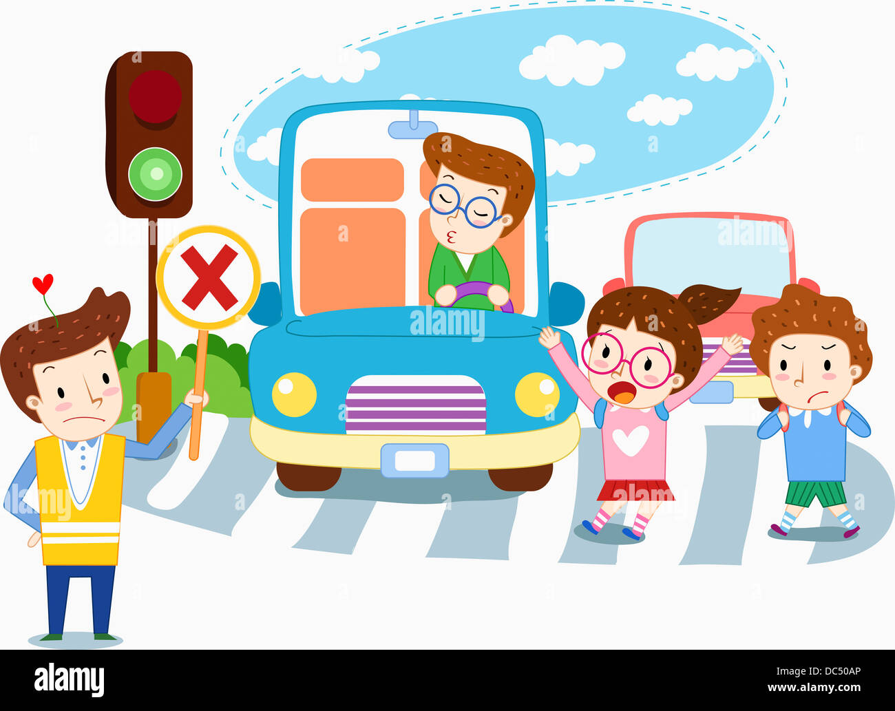 Illustration Of Traffic Safety Stock Photo Royalty Free