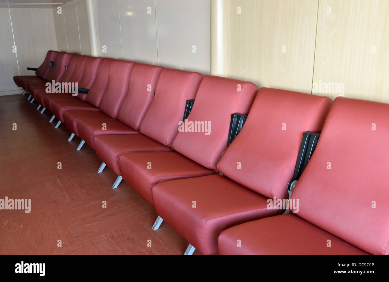 chairs for sleeping wing chair recliner slipcover reclining on a corsica bound ferry france stock