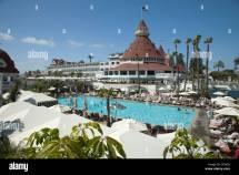 Swimming Pool Hotel Del Coronado San Diego California Usa