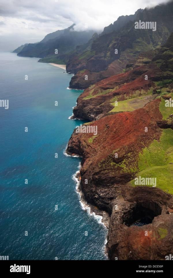 Kauai Aerial Stock & - Alamy