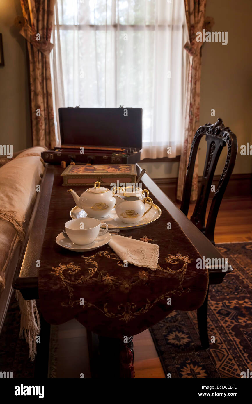 sofa table runners kijiji ottawa tea service set on with runner in period sitting room