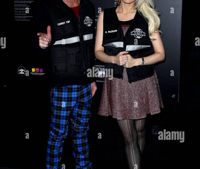 Holly Madison And Scott Thompson Aka Carrot Top Csi The Experiences  Year Anniversary At