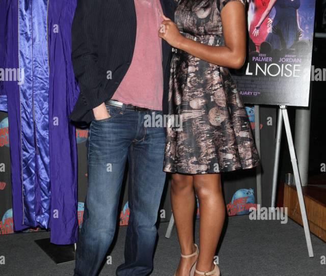 Jeremy Jordan And Keke Palmer Promoting The New Movie Joyful Noise At Planet Hollywood