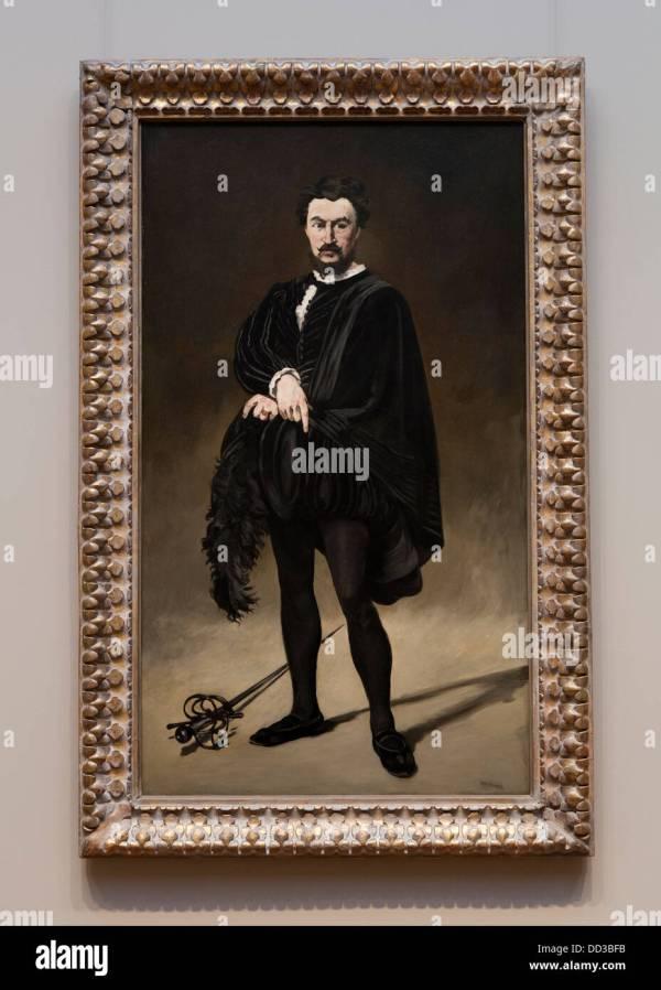 """ Tragic Actor"" Edouard Manet 1866 - Smithsonian"