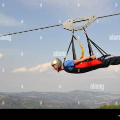 4 Man Zip Wire Wales Ezgo Wiring Diagram Gas Golf Cart Stock Photos Images Alamy On Between Two Mountains The Volo Dell Angelo Flight Of