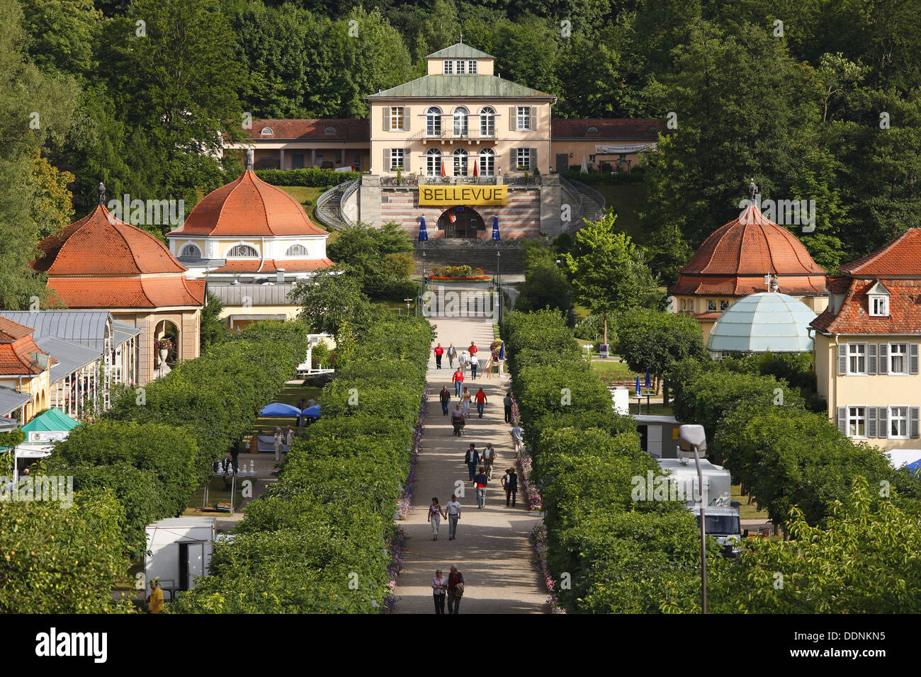Hotel Bad Brückenau Kurpark State Baths In Brueckenau View Toward