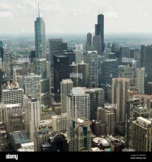 Aerial View Of Skyscrapers In Chicago Cook County