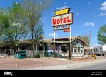 Aztec Motel Seligman Arizona Route 66 Stock Royalty