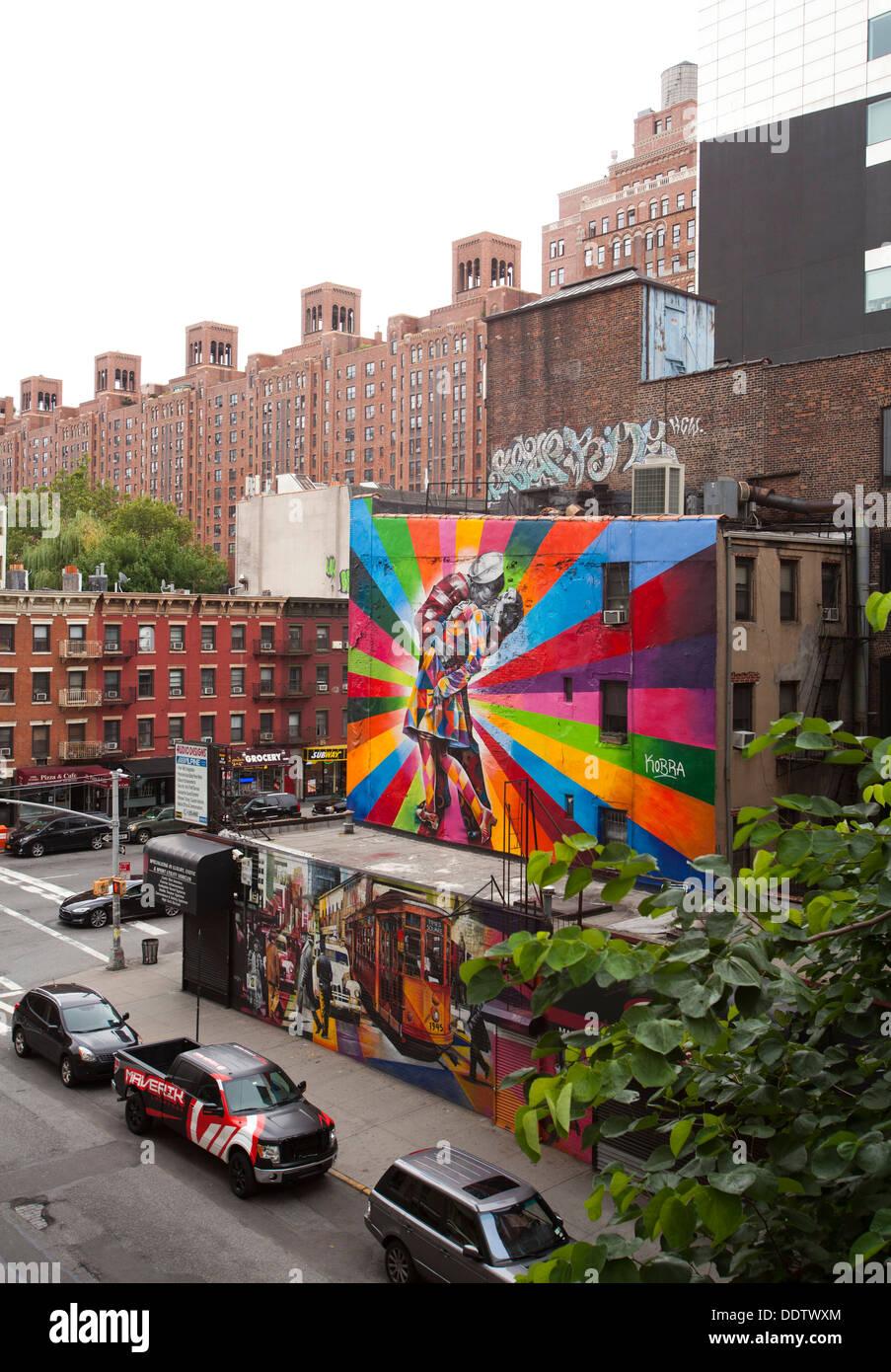Conoce la última información sobre inmigración, coronavirus, política y todas las noticias relacionadas con nueva york, videos. Street Art Mural Seen From The High Line New York United States Of America Stock Photo Alamy