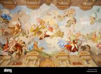 Ceiling painting in the Marble Hall, Melk Abbey or Stift ...