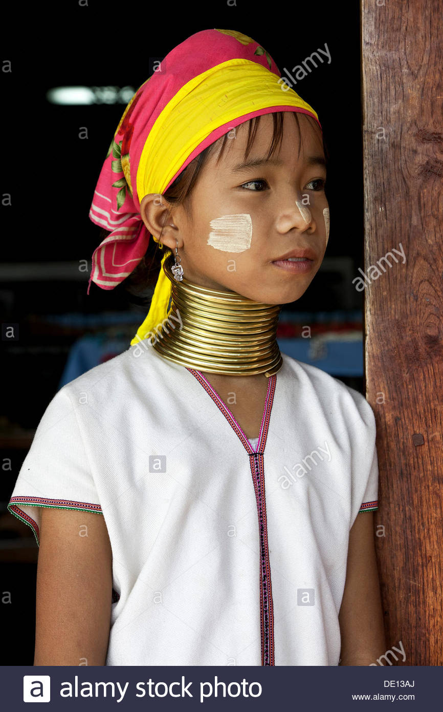 Padaung Giraffe Necked Girl Stock Image