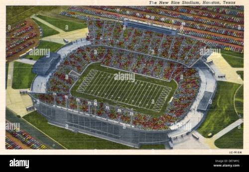 small resolution of the new rice stadium houston texas usa 1951 stock image
