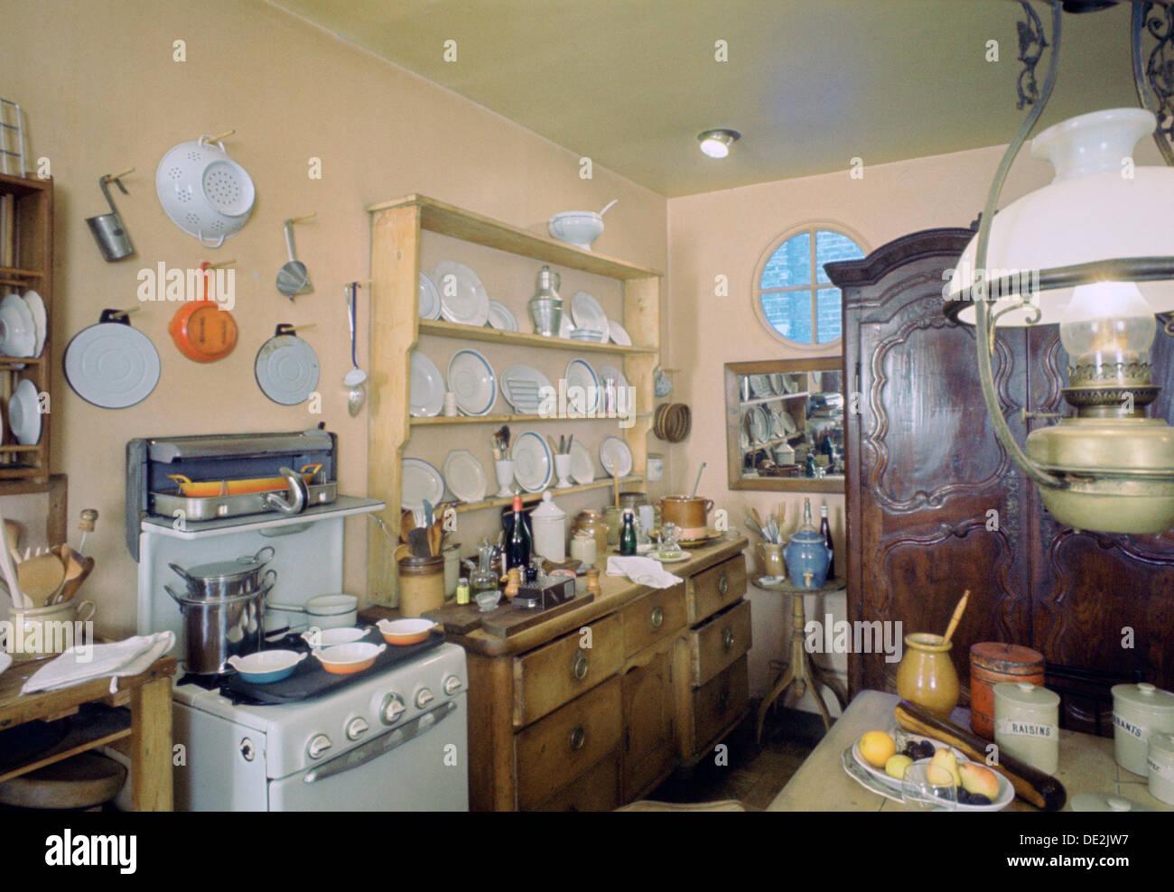 Elizabeth Davids kitchen 1965 Artist Tony Evans Stock