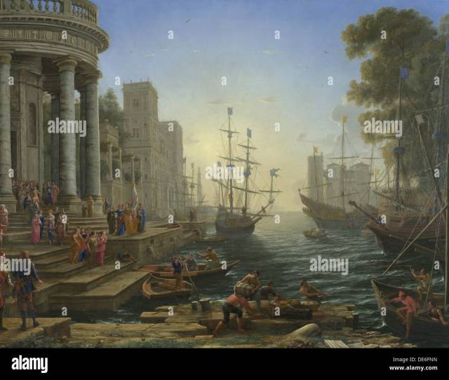Seaport With The Embarkation Of Saint Ursula  Artist Lorrain Claude