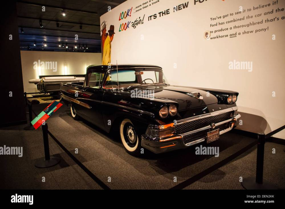 medium resolution of a 1958 ford ranchero pickup truck based on an automobile chassis stock image