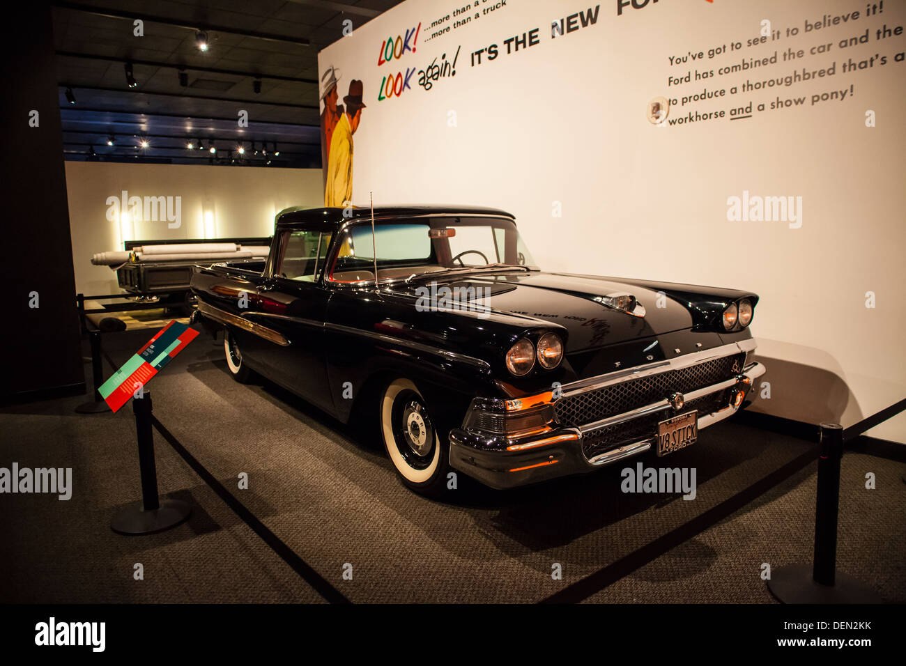 hight resolution of a 1958 ford ranchero pickup truck based on an automobile chassis stock image