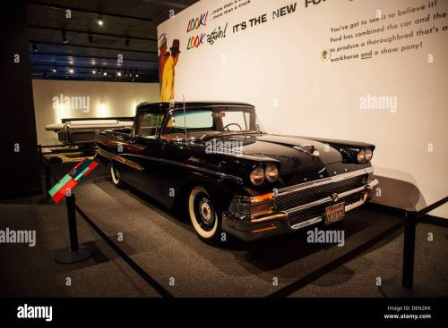 small resolution of a 1958 ford ranchero pickup truck based on an automobile chassis stock image