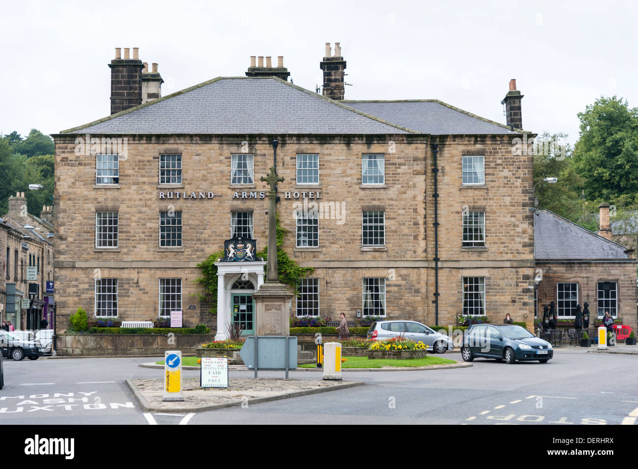 The Rutland Arms Hotel Bakewell Derbyshire Uk Stock Photo