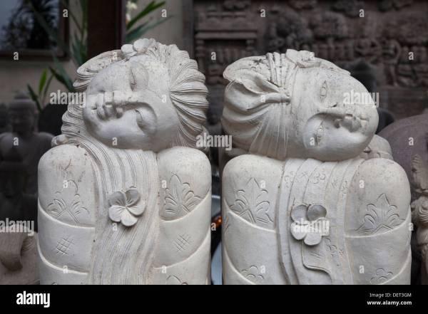 Bali Stone Sculpture Stock & - Alamy