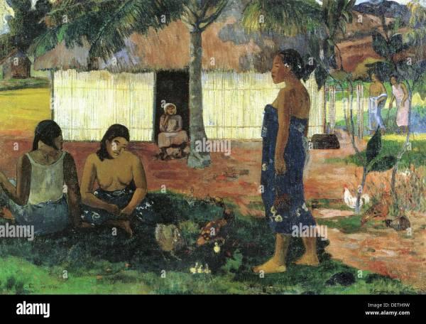 Art Painting Gauguin Stock &
