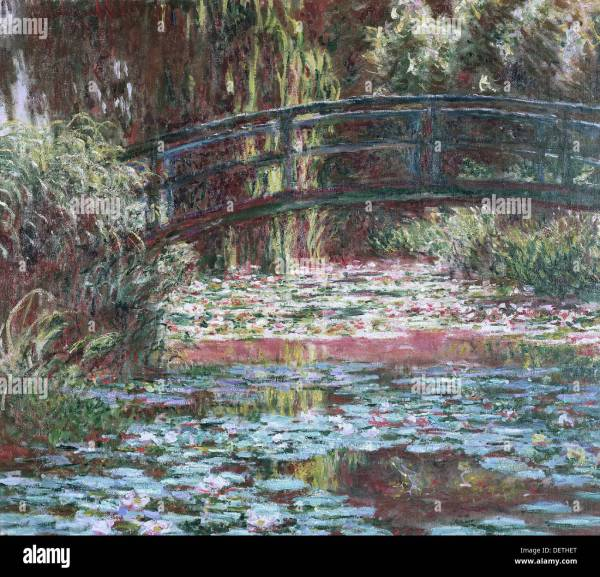 Claude Monet - Waterlily Pond Giverny 1900 Art