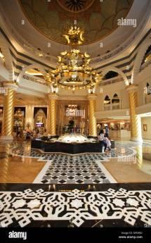 Foyer Of Luxury Hotel Jumeirah Zabeel Zaray Palm