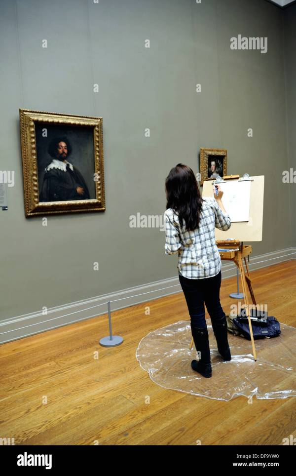 Diego Velazquez And Painting Stock &