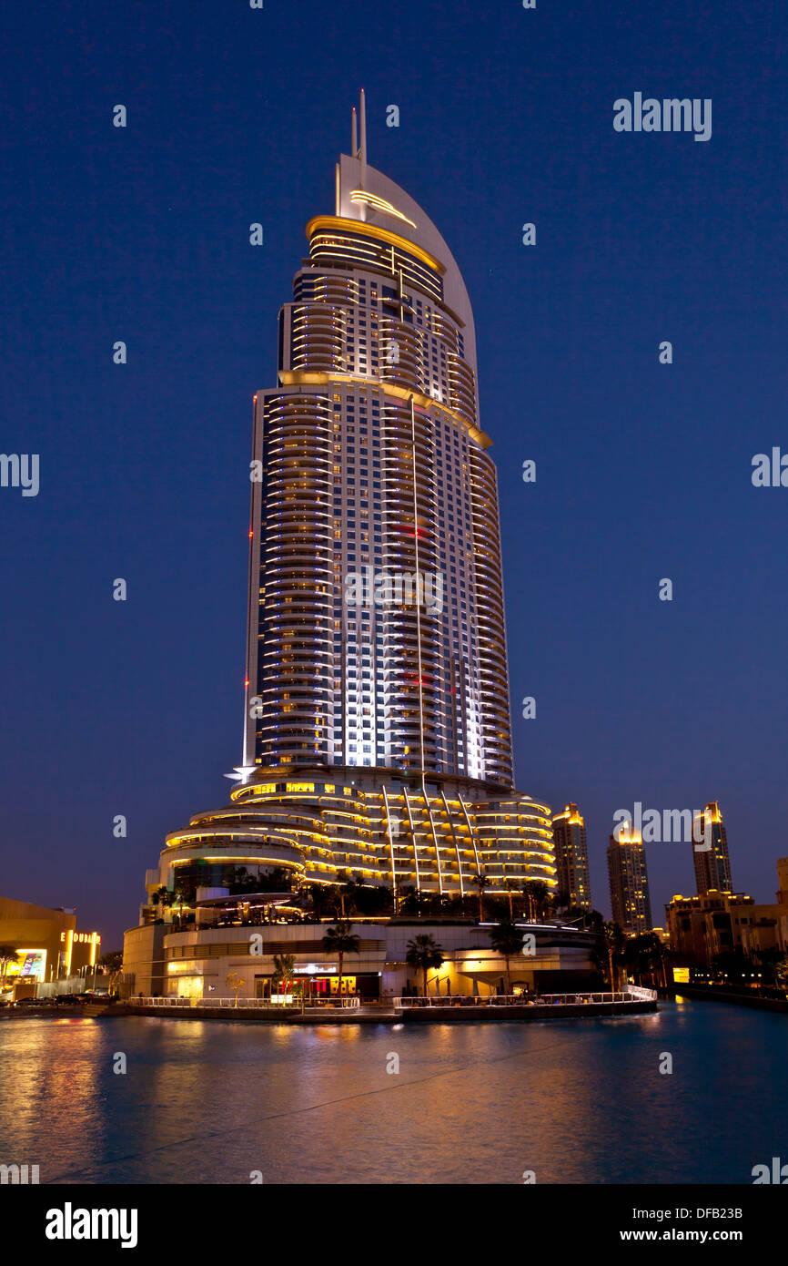 The Lake Hotel Near The Dubai Mall In Dubai Stock Photos