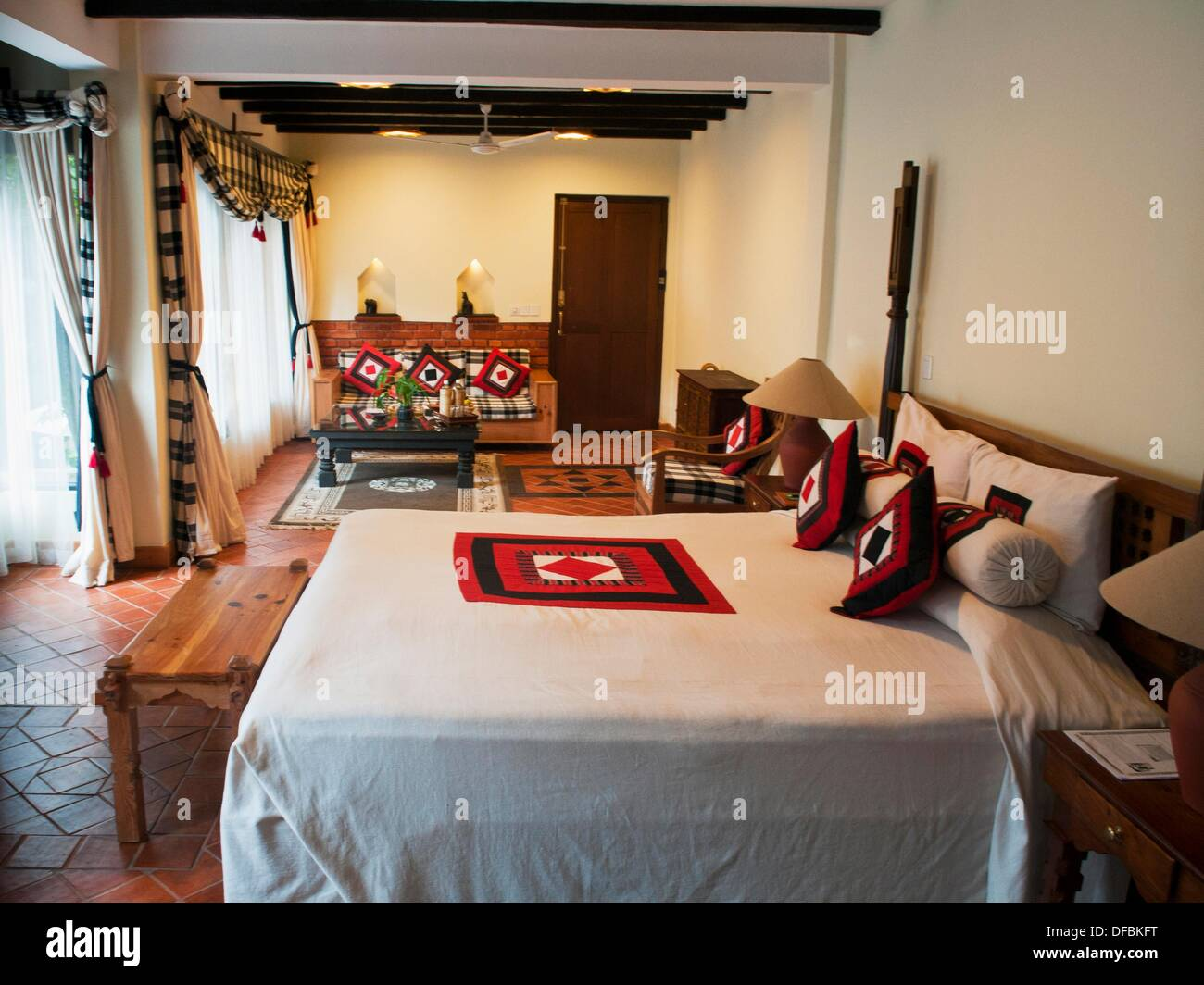 Beautiful Room At Dwarikas Resort In Kathmandu Nepal Stock Photo Alamy