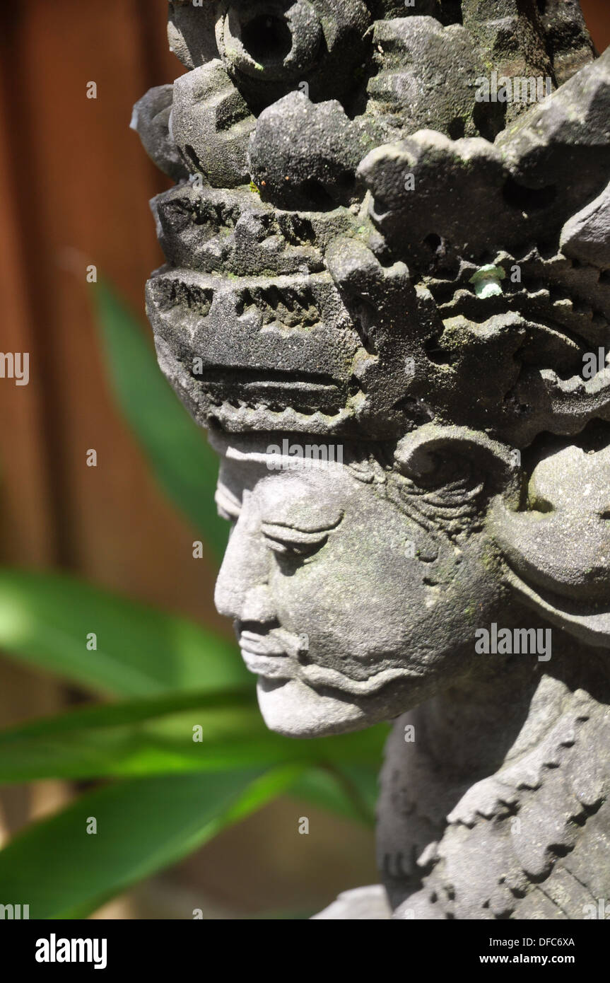 Ubud Bali Indonesia Statue At The Entrance Of A Hotel