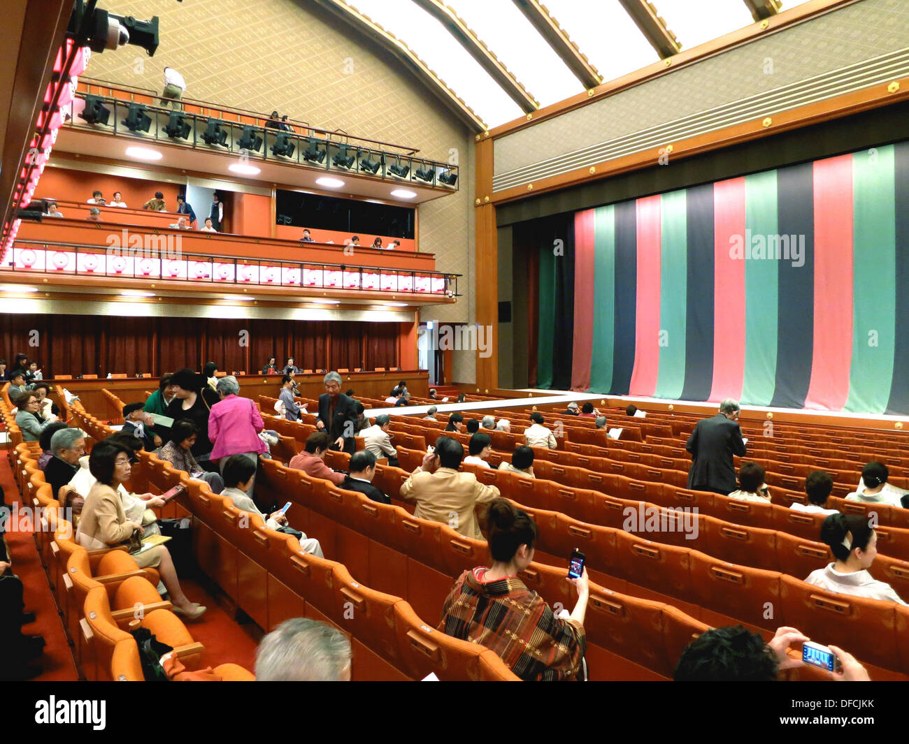 Interior View Of A Traditional Kabuki Theatre During An