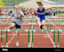 Middle School Ages Teens Participate In Track And Field