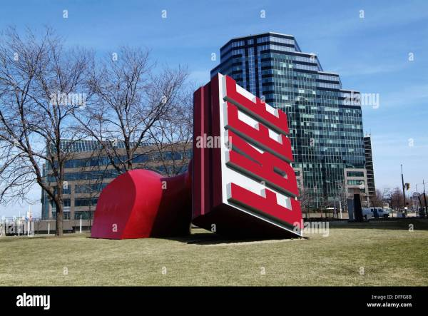 Rubber Stamp Sculpture Downtown Cleveland Ohio Sightseeing