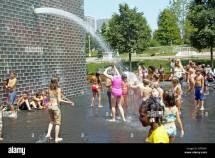 Chicago Millennium Park Water Fountain
