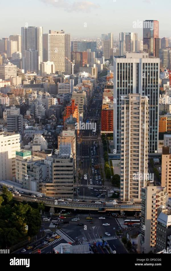 Minato Ku Tokyo Street Stock &