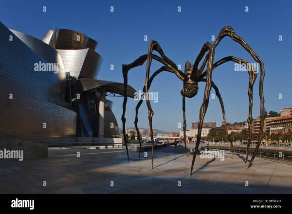 Spider Sculpture Guggenheim Museum Bilbao Stock