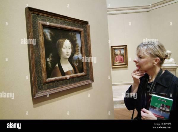 Da Vinci Painting Stock &